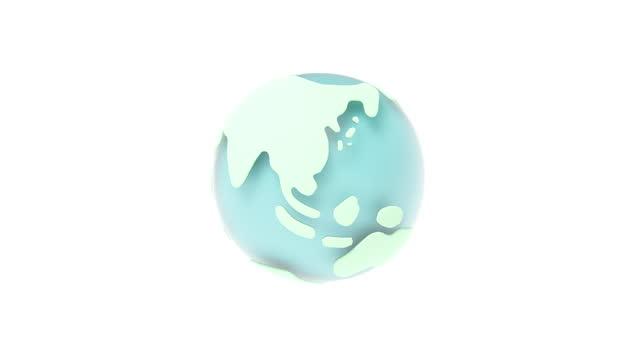 vídeos de stock e filmes b-roll de globe with a transparent sense of rotation created in 3d - cartografia