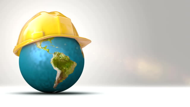 Globe With Helmet - Protecting Earth video
