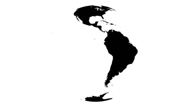 세계 회전 알파 오버레이 글로브 - 행성 스톡 비디오 및 b-롤 화면