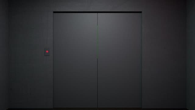 Gloomy Elevator Down to the Floor. video