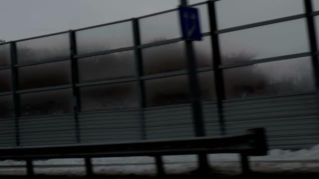 Gloomy fence on the bridge video