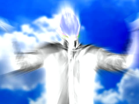Glorified Body What a resurrected body may look like.  Man standing in heaven. religious text stock videos & royalty-free footage