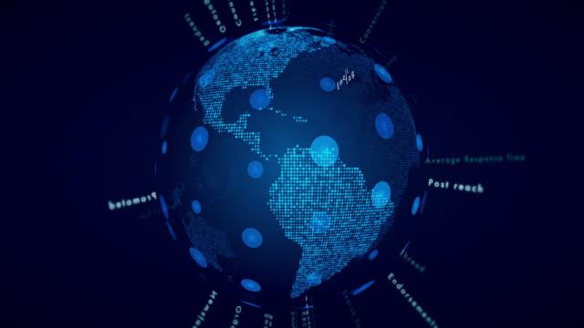 Glossary of Social Media Terms on world map globe