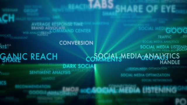 Glossary of Social Media Terms 4k video of Glossary of Social Media Terms digital marketing stock videos & royalty-free footage