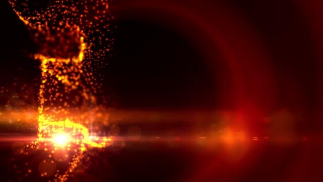 Glow glittering stars effect. video