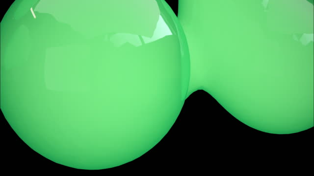 Glow Green ball 3D rendering floating spheres. Concept: Abstract background , Motion graphic , Party.