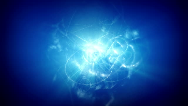 Glowing blue abstract lights background video