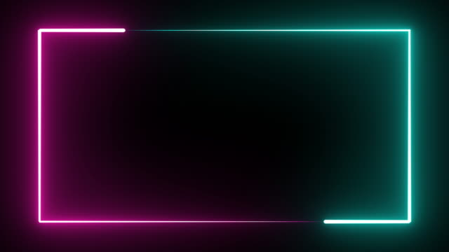 glowing blue and purple neon light rectangle shapes on black background seamless loop motion. - {{asset.href}} video stock e b–roll
