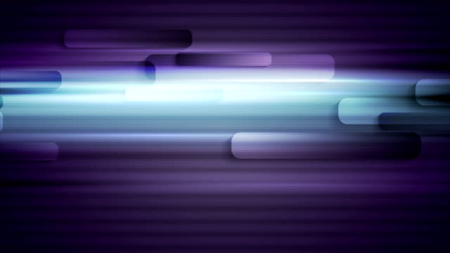 Glowing blue and purple tech striped video animation video