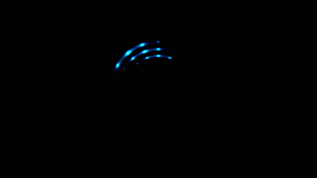 Glowing blue neon loading waiting rings video animation video