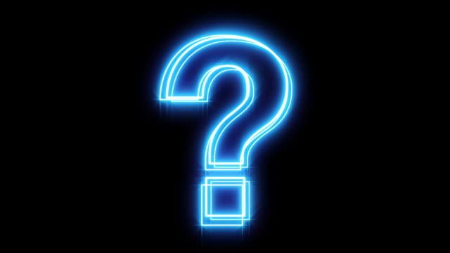 Glowing Blue Question Mark