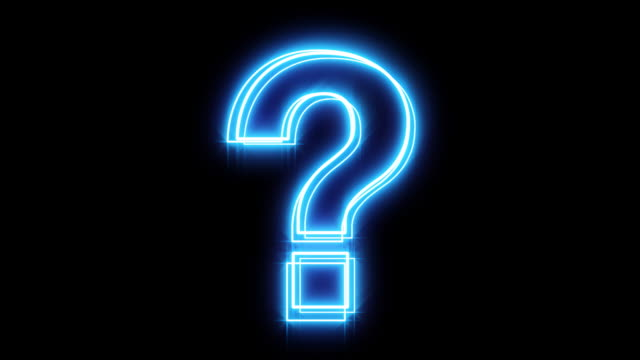 Glowing Blue Question Mark  typescript stock videos & royalty-free footage
