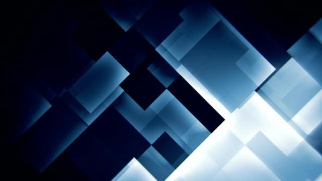 leuchtende blaue quadrate abstrakte bewegung hintergrund nahtlose schleife - quadratisch komposition stock-videos und b-roll-filmmaterial