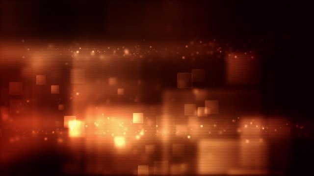 Glowing Boxes Loop - Ember Red (Full HD)