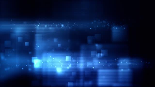 Glowing Boxes Loop - Full Screen (Blue HD) video