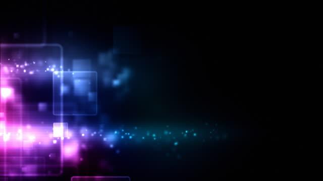 Glowing Boxes Loop - Neon Pink (HD 1080) video