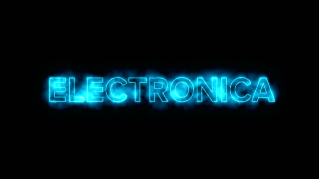 Glowing Bright Electronica Text for Commercial or Concert Backgrounds video