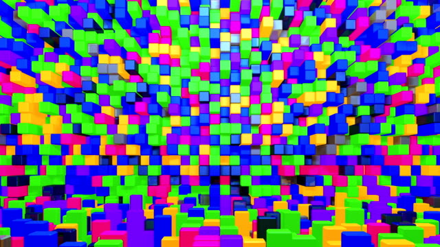 glowing colorful cubes background. - art deco architecture stock videos & royalty-free footage