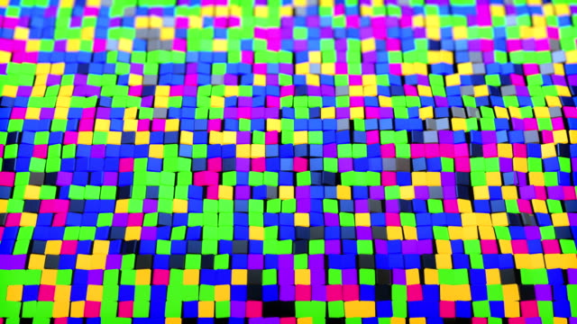 glowing colorful cubes background - art deco architecture stock videos & royalty-free footage