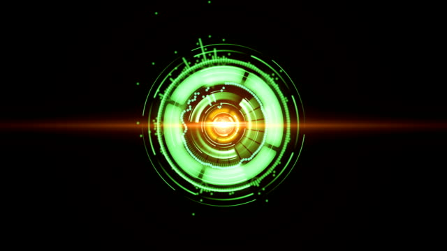 Glowing digital element background video
