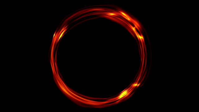 Glowing fiery ring video animation video
