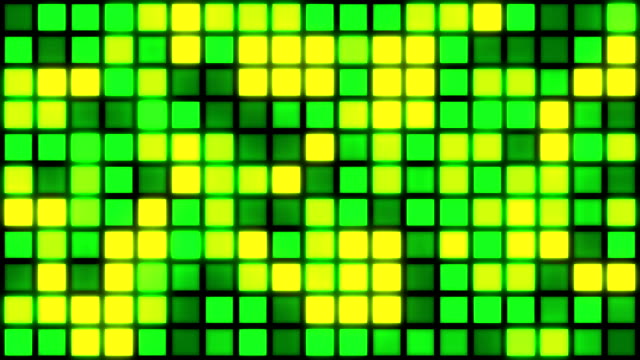Glowing Grid of Multicoloured Squares   Colours Change with Random Generative Flicker Effect video