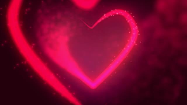 Glowing heart. video