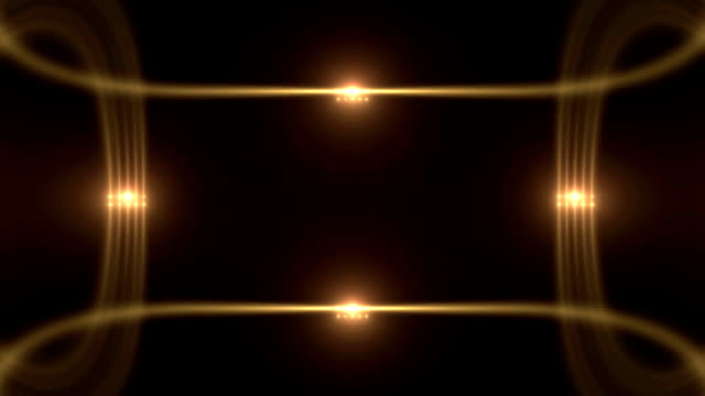Glowing Light Borders with Flares video