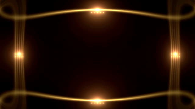 glowing light frame with flares - art deco architecture stock videos & royalty-free footage