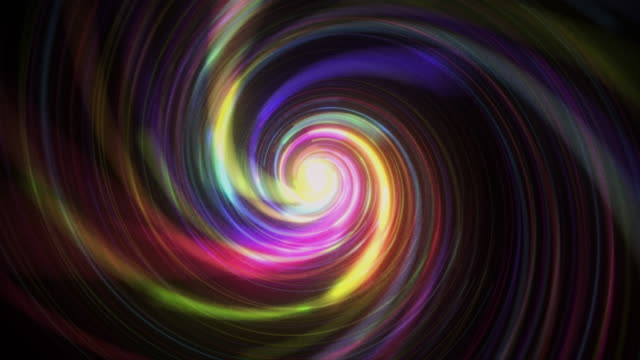 Glowing lights spiral retro style