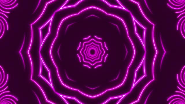 Glowing Neon Kaleidoscope Lights - Loopable