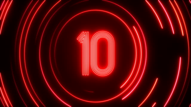 Glowing Neon Light Countdown