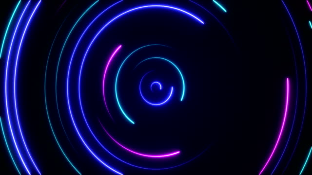 glowing neon lights - loopable - in fila video stock e b–roll