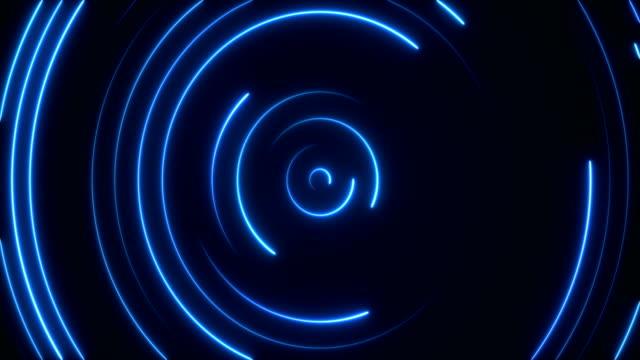 vídeos de stock, filmes e b-roll de luzes de néon brilhante - loopable - light trail