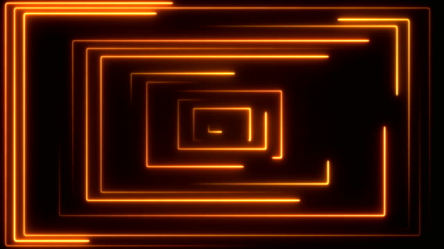 Glowing Neon Lights - Loopable Retro Style Abstract Backgrounds square composition stock videos & royalty-free footage