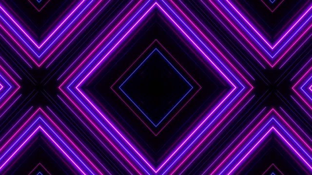 Glowing Neon Lights - Loopable Retro Style Abstract Backgrounds geometric background stock videos & royalty-free footage