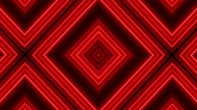 glowing neon lights - loopable - узор калейдоскоп стоковые видео и кадры b-roll