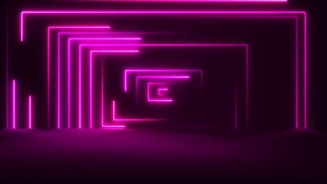 glödande neonljus-loopable - dansbana bildbanksvideor och videomaterial från bakom kulisserna
