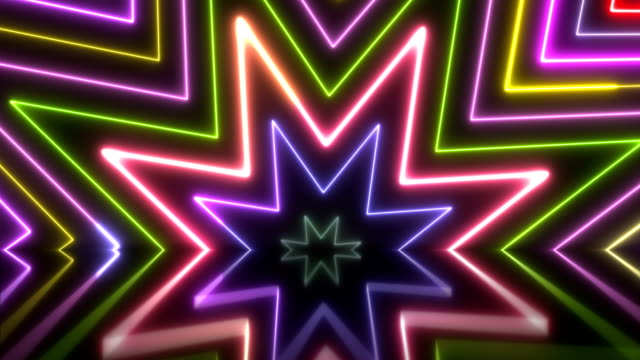 vídeos de stock, filmes e b-roll de luzes de néon brilhante - loopable - clubbing
