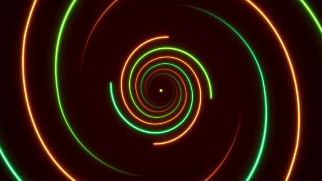 發光霓虹燈-風波螺旋背景. 可移動 - golden ratio 個影片檔及 b 捲影像
