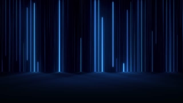 Glowing Neon Lights Falling Lines Abstract Backgrounds laser stock videos & royalty-free footage