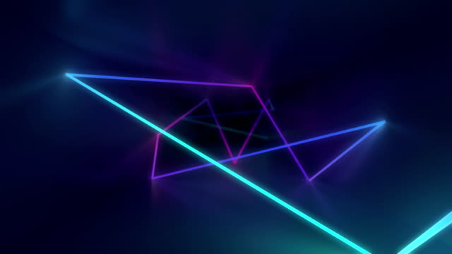 Glowing neon tunnel. Abstract seamless background.  Fluorescent ultraviolet light. High quality 3d render animation. Blue pink color illumiantion. light effect stock videos & royalty-free footage