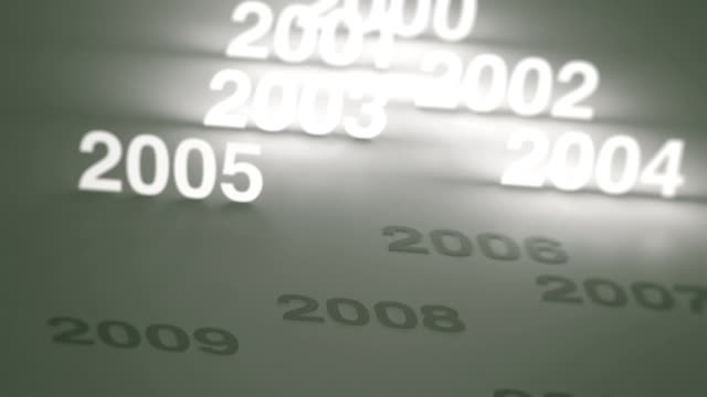 Glowing Numbers Timeline: 2000s and 2010s video