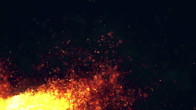 glowing particle, abstract background. video