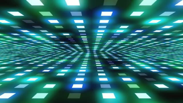 Glödande pixelbakgrund i en vinkel video