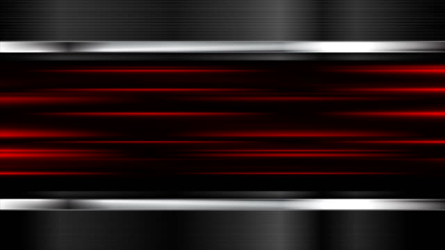 Glowing red stripes and metal elemets motion design video