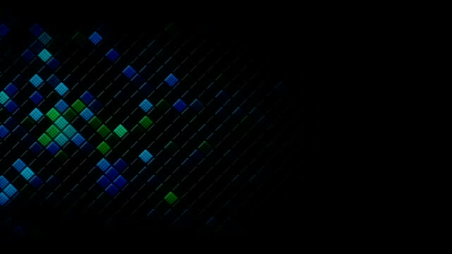 Glowing rhombus on the edge abstract loopable background video
