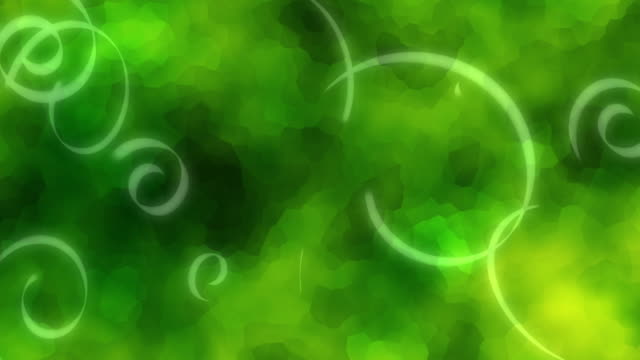 Glowing ribbons (green) video