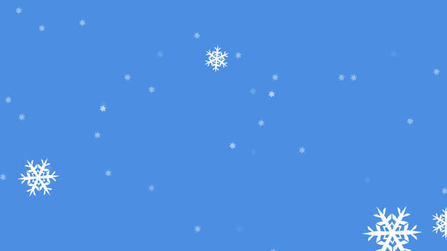 glühende schneepartikel fallen vor blauem hintergrund - schneeflocken stock-videos und b-roll-filmmaterial