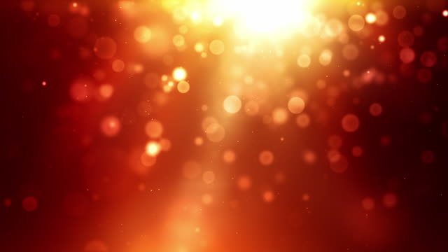 Glowing Sparkle Dots Background Loop - Fiery Red (Full HD) video